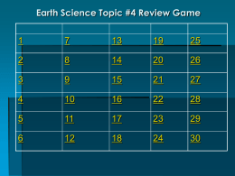 Topic #4 Review Game