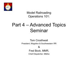 PART 4 - Advanced Topics Seminar