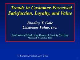 Customer Value - Marketing Research and Intelligence Association