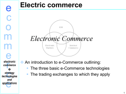 e-Commerce by David Whiteley