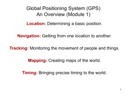 Global Positioning System - School of Electrical Engineering and