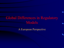 Global Differences in Regulatory Models