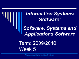 Software, Systems and Applications Software