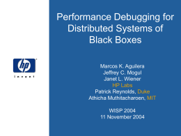 Project5: Performance debugging for distributed systems of