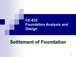 CE-632 Geotechnical Engineering