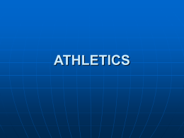 Presentation by Athletics - (100) - Sport and Recreation South Africa
