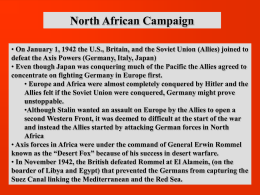 WWII in Europe and Africa Notes