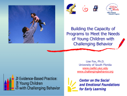 Young Children with Challenging Behavior