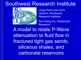A model to relate P-Wave attenuation to fluid flow