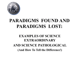 paradigms found and paradigms lost