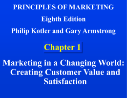 Chapter 1: Marketing in a Changing World