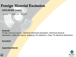 foreign material exclusion (fme)