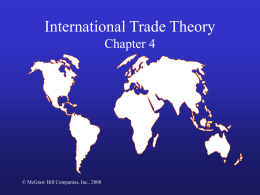 International Trade Theory Chapter 4