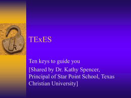 TExES - Ten Clues