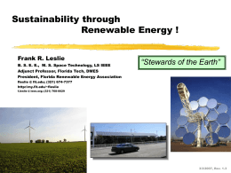 Sustainability through Renewable Energy