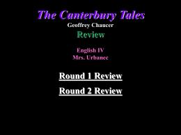 Canterbury Tales Jeopardy File
