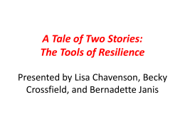 The Tools of Resilience