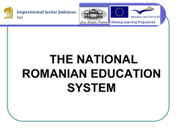 the national romanian education system