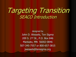 Targeting Transition for SEACO