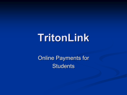 Triton-Link - Student Business Services