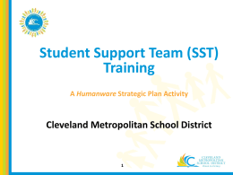 Student Support Team (SST) - Cleveland Metropolitan School District