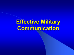 How to Conduct a Military Briefing
