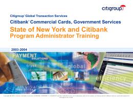 2003-2004 State of New York and Citibank Program Administrator