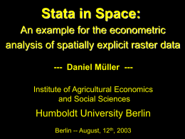 Stata in Space: