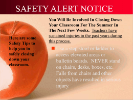 SAFETY ALERT NOTICE