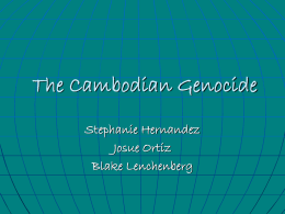 The Cambodian Genocide - Pasadena City College