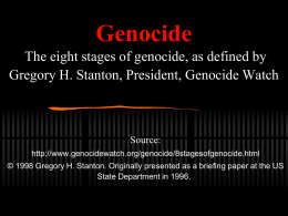 8 stages of genocide interactive