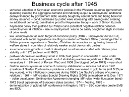 Business cycle after 1945