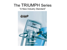 "The TRIUMPH Series ""Simply the Best"""