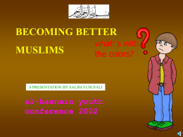 Become better Muslims - Al