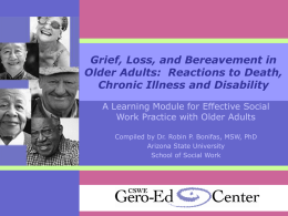 Grief, Loss and Bereavement in Older Adults