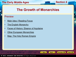 Early Monarchies