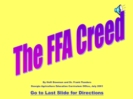 FFA Creed PowerPoint
