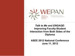 Talk to Me and ENGAGE: Improving Faculty-Student