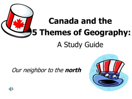 Canada and the 5 Themes of Geography