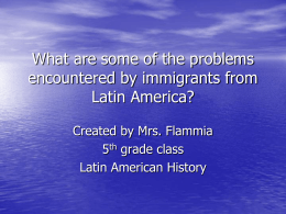 What are some of the problems encountered by immigrants