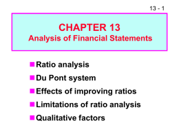 Ratio Analysis, PowerPoint Show
