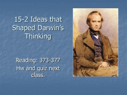 15-2 Ideas that Shaped Darwin`s Thinking