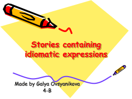 Stories containing idiomatic expressions