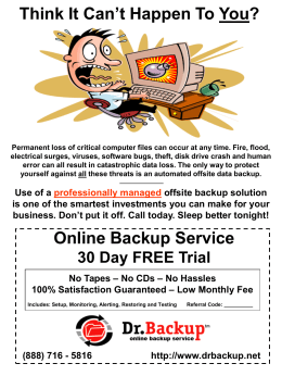Flyer2 - Dr.Backup