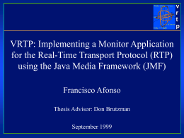 vrtp: RTP Monitor using JMF