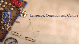 Language, Social class and cognition