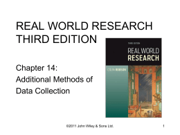REAL WORLD RESEARCH THIRD EDITION