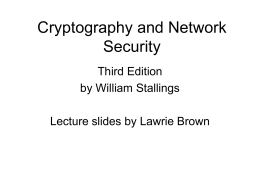 Cryptography and Network Security 3/e