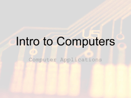 intro to computers powerpoint