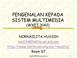 sistem pengendalian - Faculty of Computer Science and Information